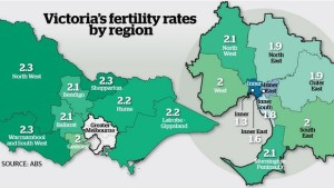 Vic Birth rates